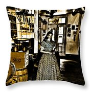 General Store Harpers Ferry Throw Pillow