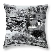 General View Of The Holy Road Throw Pillow