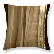Gentle Breeze In Sepia Throw Pillow