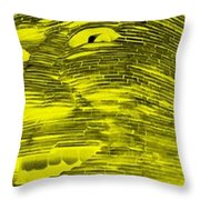 Gentle Giant In Negative Colors Throw Pillow