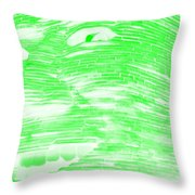 Gentle Giant In Negative Light Green Throw Pillow