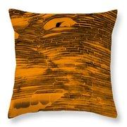 Gentle Giant In Negative Orange Throw Pillow