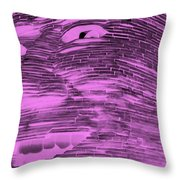 Gentle Giant In Negative Pink Throw Pillow