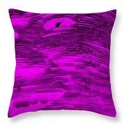 Gentle Giant In Negative Purple Throw Pillow