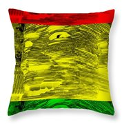 Gentle Giant In Negative Stop Light Colors Throw Pillow