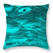 Gentle Giant In Negative Turquois Throw Pillow