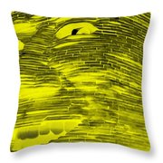 Gentle Giant In Negative Yellow Throw Pillow