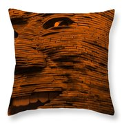 Gentle Giant In Orange Throw Pillow