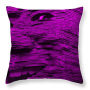 Gentle Giant In Purple Throw Pillow