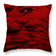 Gentle Giant In Red Throw Pillow