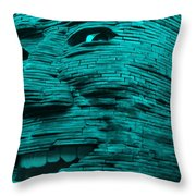 Gentle Giant In Turquois Throw Pillow