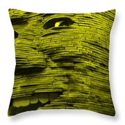 Gentle Giant In Yellow Throw Pillow