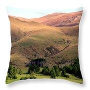 Gentle Rolling Hills Throw Pillow