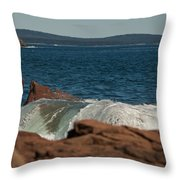 Gently Rolling Tide Throw Pillow