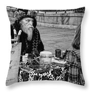 Genuine Palmistry And Tarot Black And White Throw Pillow