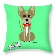 Geo Chihuahua Throw Pillow