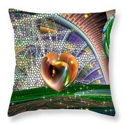 Geo Hearts Throw Pillow