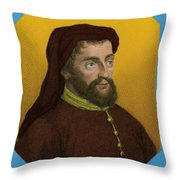 Geoffrey Chaucer, Father Of English Throw Pillow