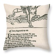 Geoffrey Chaucers, Canterbury Tales Throw Pillow