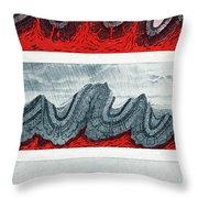 Geologic Crumpling Throw Pillow