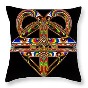 Geometry Mask Throw Pillow