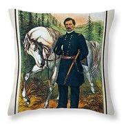 George B. Mcclellan, 1864 Throw Pillow