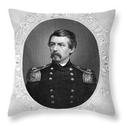 George Brinton Mcclellan Throw Pillow
