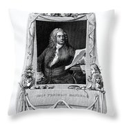 George Frideric Handel, German Baroque Throw Pillow by Omikron