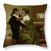 George Herbert And His Mother Throw Pillow