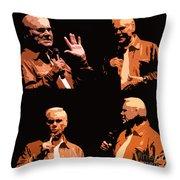 George Jones Concert Collage Throw Pillow