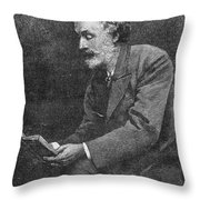 George Meredith (1828-1909) Throw Pillow