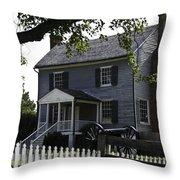 George Peers House Appomattox Virginia Throw Pillow