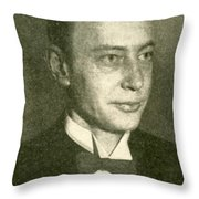 George Richards Minot, American Medical Throw Pillow by Science Source