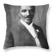 George W. Carver, African-american Throw Pillow