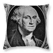 George Washington In White Throw Pillow