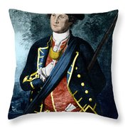 George Washington, Virginia Colonel Throw Pillow by Photo Researchers, Inc.