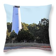 Georgetown Light Winyah Bay Sc Throw Pillow