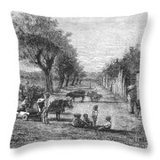 Georgia: Black Village Throw Pillow