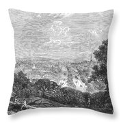 Georgia: Macon, 1863 Throw Pillow