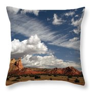 Georgia O'keeffe's Ghost Ranch Throw Pillow