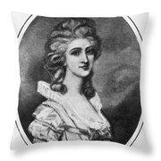 Georgiana Shipley (1752-1806) Throw Pillow