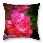 Geranium 9 Throw Pillow
