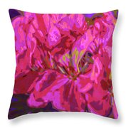 Geranium Pop Throw Pillow