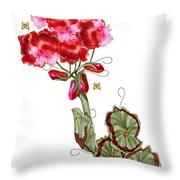 Geranium Sans Pot Throw Pillow