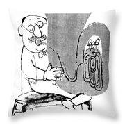 Gerard Hoffnung (1925-1959) Throw Pillow