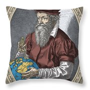 Gerardus Mercator, Flemish Cartographer Throw Pillow