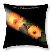 Gerber Daisy Unveiled Throw Pillow
