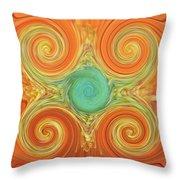 Gerbera Abstract Throw Pillow