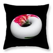 Gerbera Donut 2 Throw Pillow
