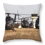 German Army Bo-105 Helicopters, Stendal Throw Pillow